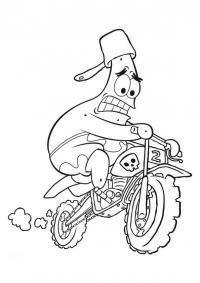 Патрик гонщик Распечатать раскраски для мальчиков