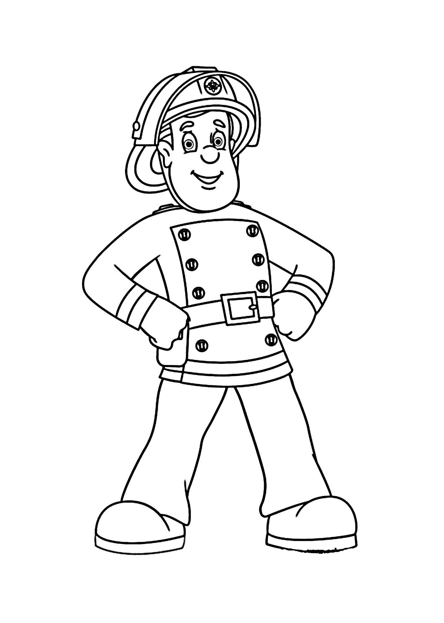 Пожарный Раскраски для детей мальчиков