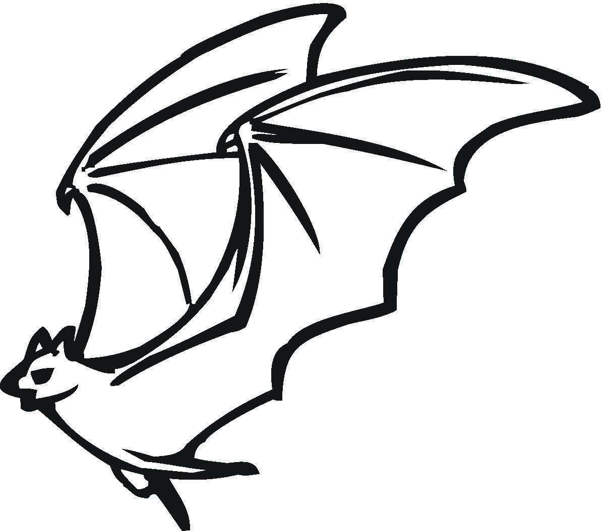 Картинки летучие мыши раскраски
