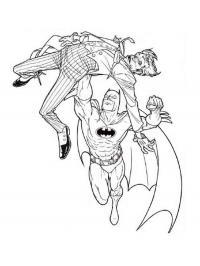 Бетмен летучая мышь Распечатать раскраски для мальчиков