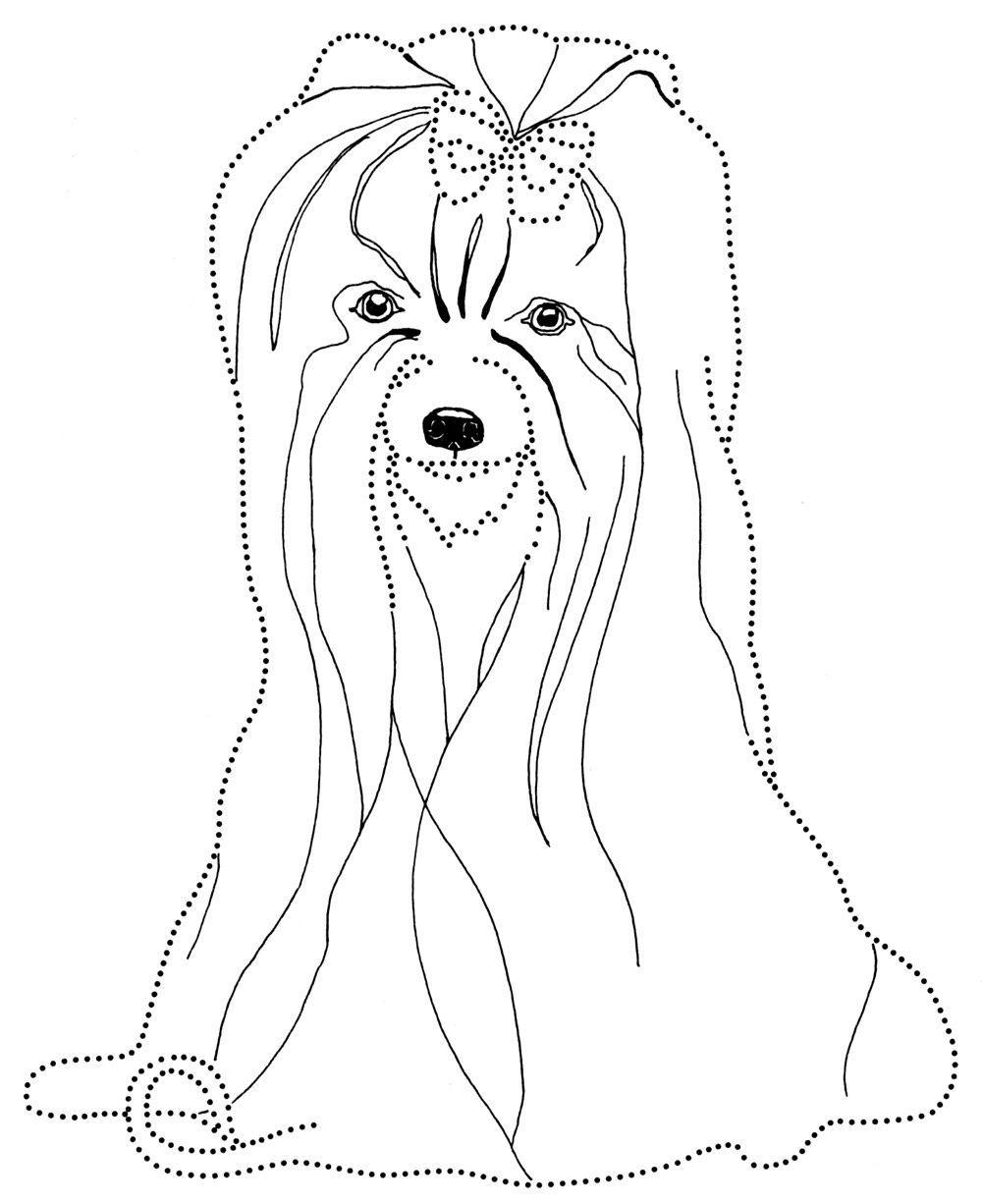 Собачка с бантиком Скачать раскраски для мальчиков