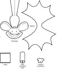Летучая мышь шаблон Раскраски для мальчиков