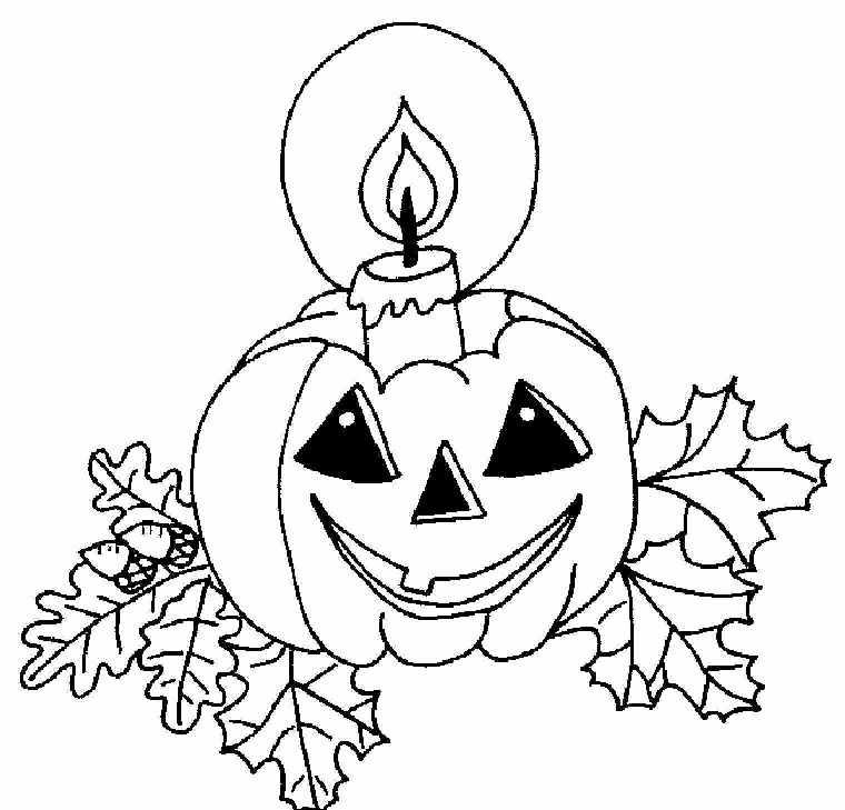 Тыква на хэллоуин со свечей Раскраски для мальчиков