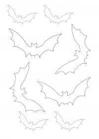 Летучие мыши шаблоны Раскраски для мальчиков