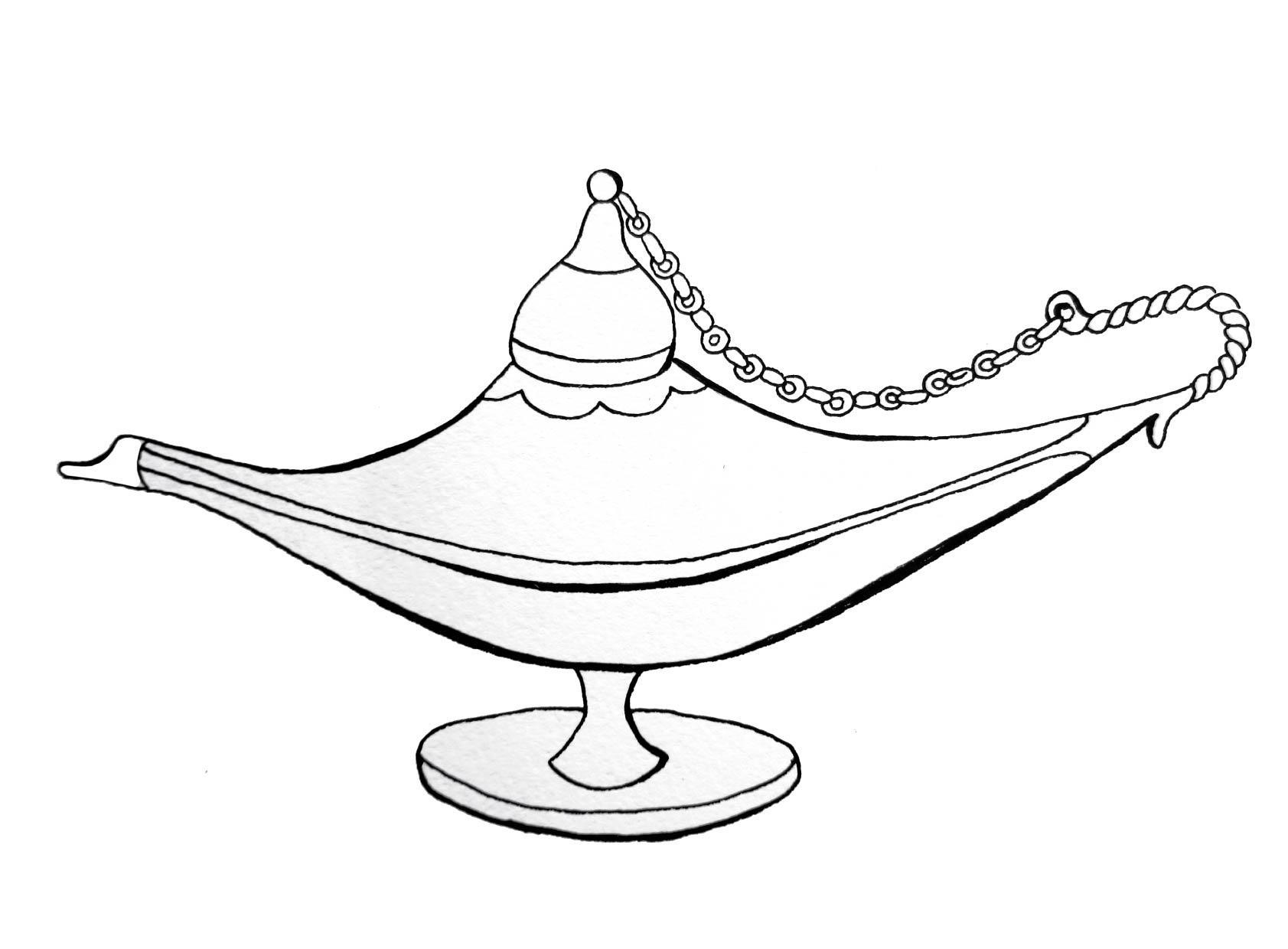 Лампа алладина Раскраски для мальчиков бесплатно