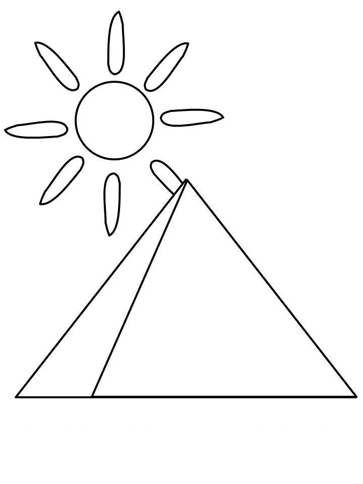 Пирамида в египте и солнце Раскраски для мальчиков