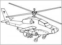 Боевой вертолет Раскраски для мальчиков