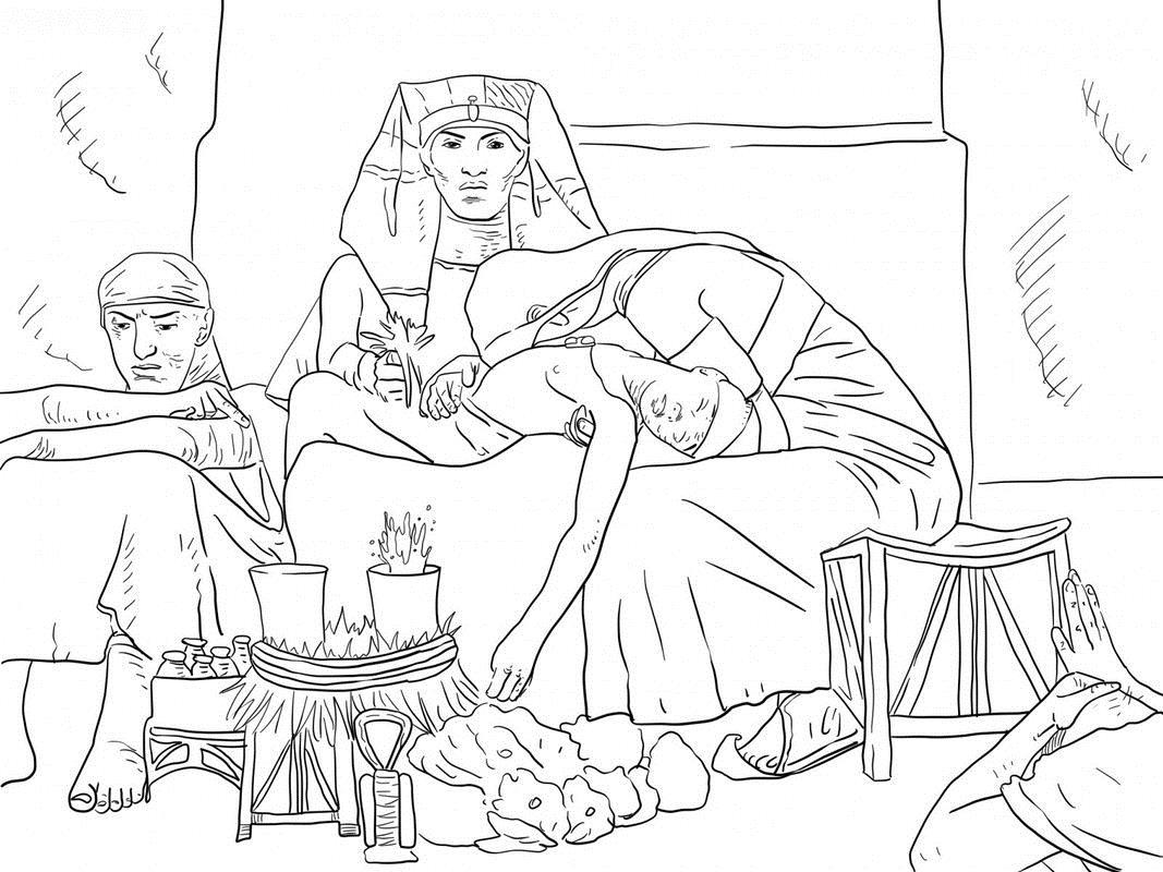 История египета Раскраски для мальчиков бесплатно