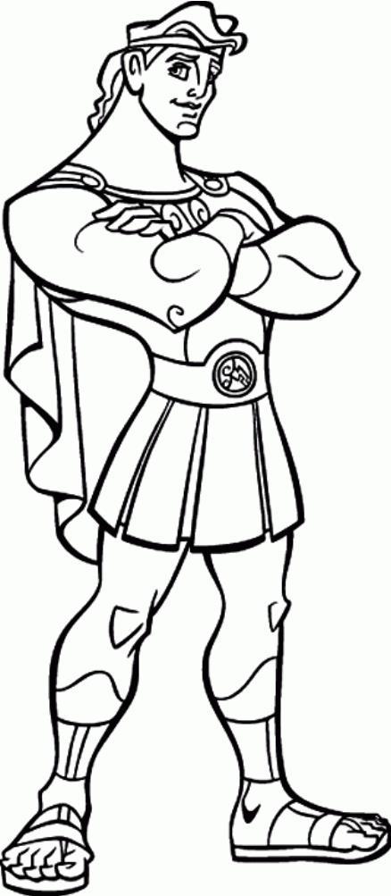 Греческий воин Раскраски для мальчиков