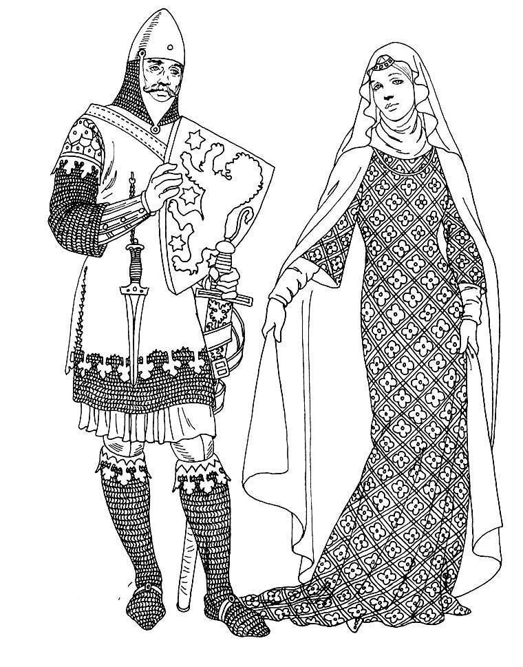 Король и леди Раскраски для детей мальчиков