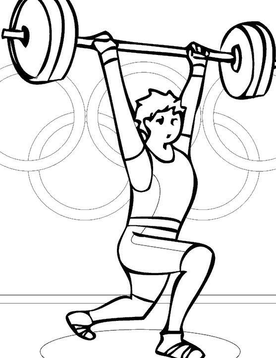 Штангист, тяжелая атлетика Раскрашивать раскраски для мальчиков
