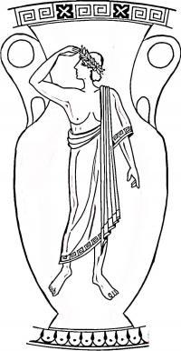 Греческая ваза Раскраски для мальчиков