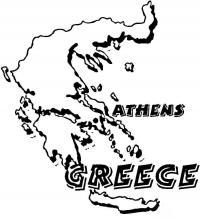 Карта греции Раскраски для мальчиков