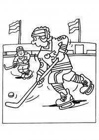 Игра в хоккей Раскрашивать раскраски для мальчиков