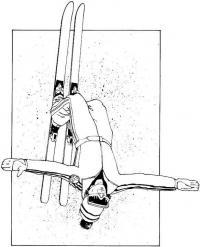 Лыжник, прыжок с трамплина, сальто Раскрашивать раскраски для мальчиков