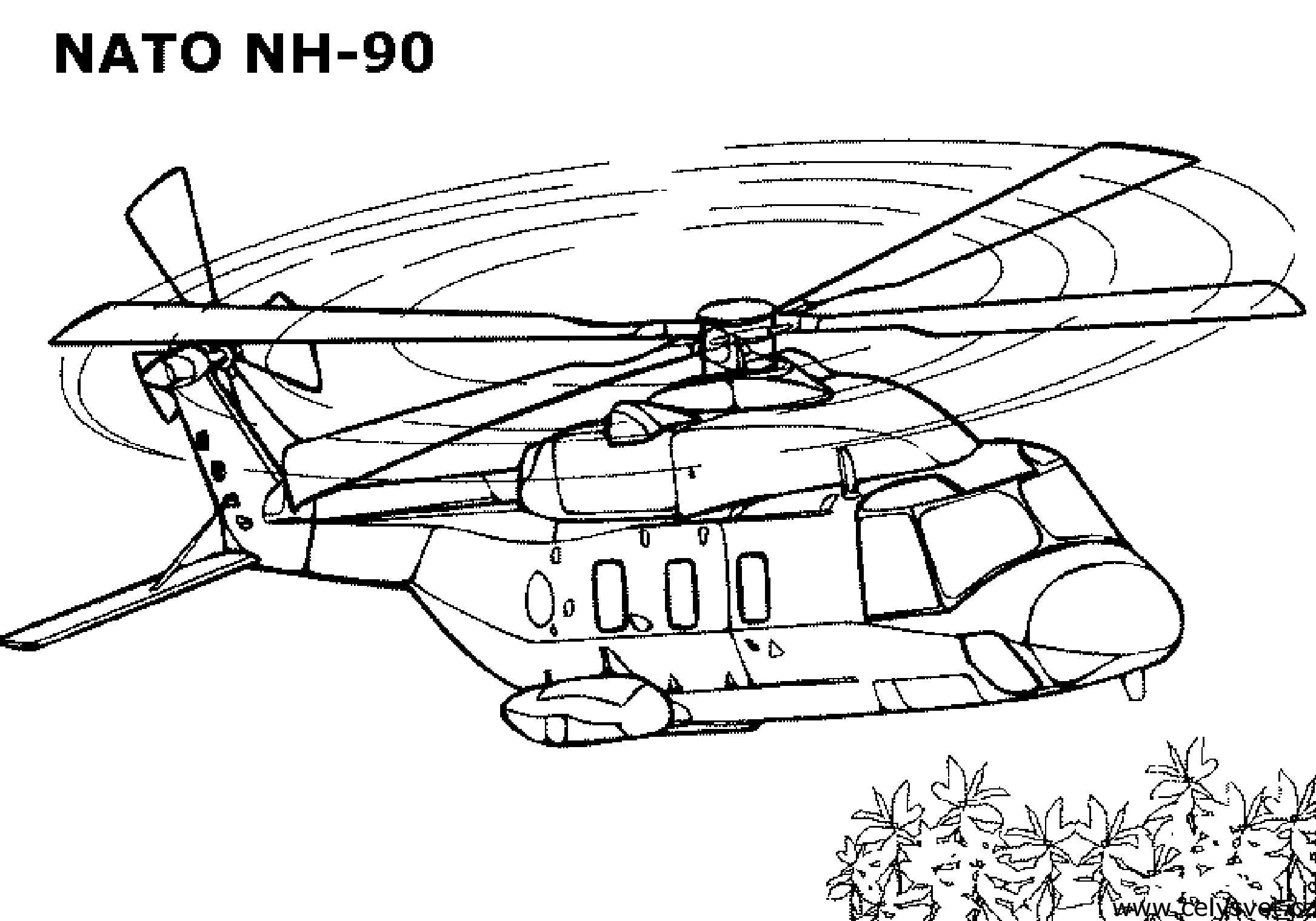 Вертолет нато вертолет небо Раскраски для детей мальчиков