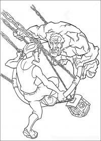 Атлантида, сражение на цепях Раскраски для детей мальчиков