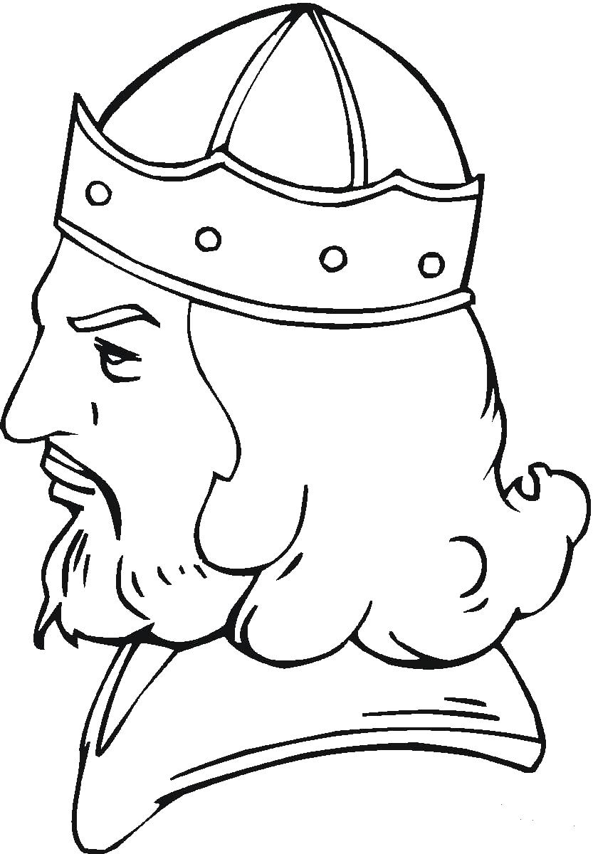 Портрет викинга Раскраски для мальчиков бесплатно