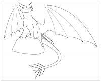 Дракон из мультфильма как приручить дракона Раскраски для детей мальчиков
