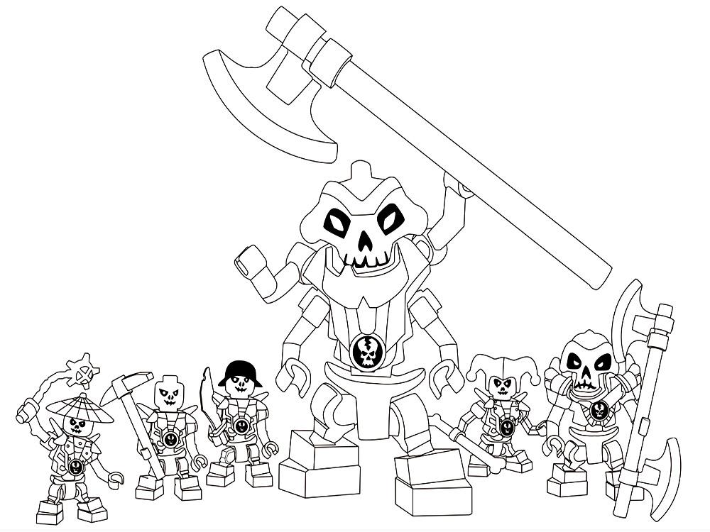 Монстры с черепами Раскраски для детей мальчиков