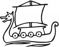 Корабль викингов Раскраски для мальчиков бесплатно