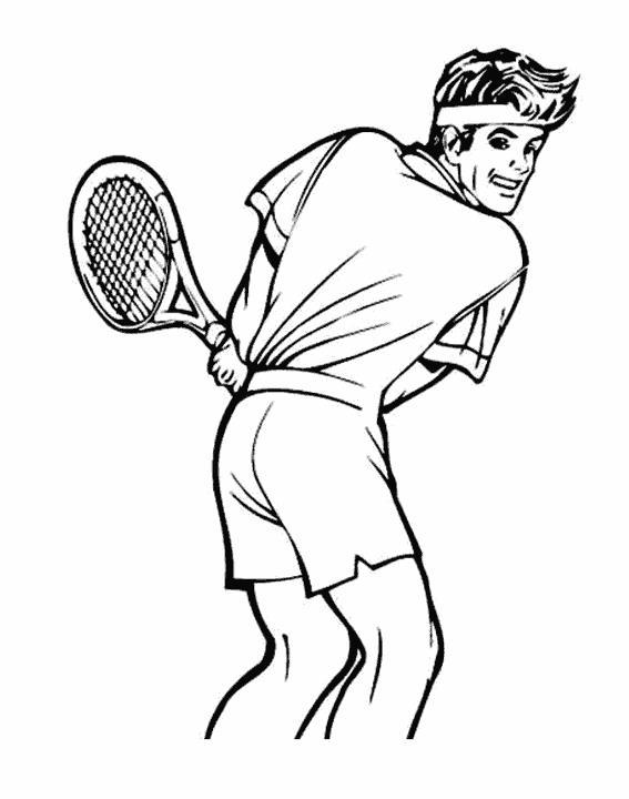Теннисист Раскраски для мальчиков