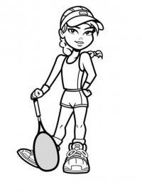 Теннисистка Раскраски для мальчиков