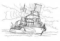 Корабль военный Раскрашивать раскраски для мальчиков