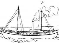 Небольшой корабль Раскрашивать раскраски для мальчиков