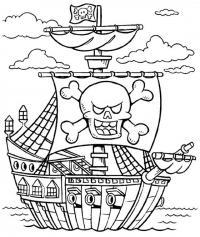 Пиратское судно Раскрашивать раскраски для мальчиков
