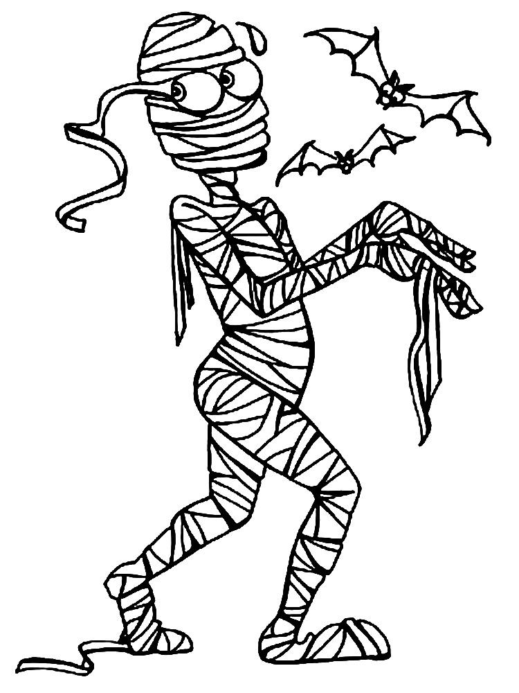 мумия Раскрашивать раскраски для мальчиков