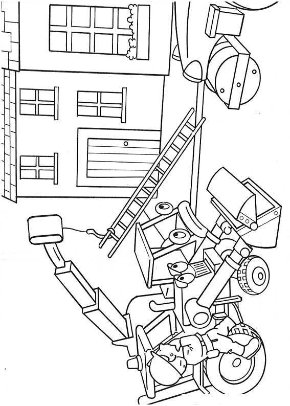 Трактор кран и бульдозер бульдозер трактор дом Раскраски ...