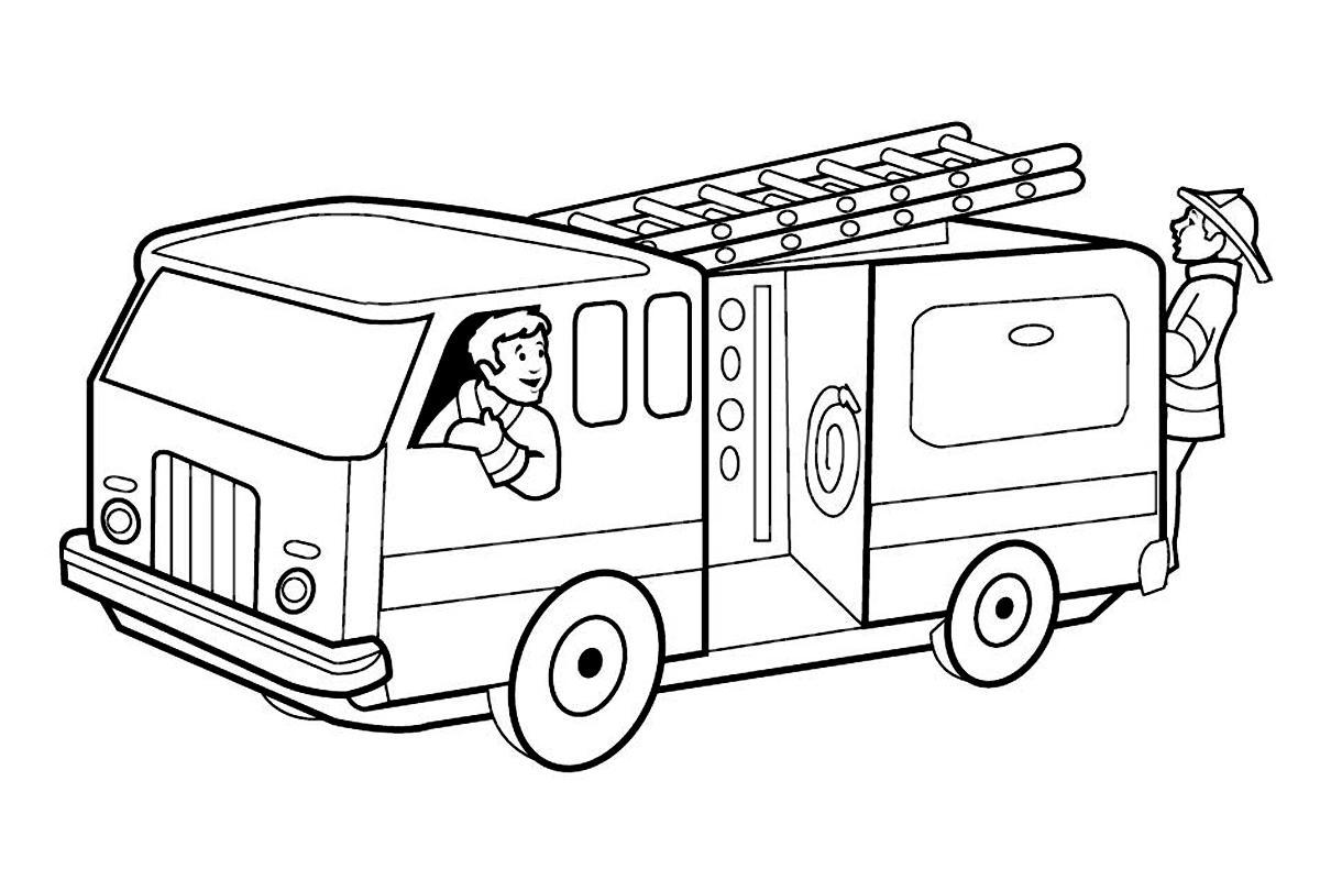 грузовик Раскрашивать раскраски для мальчиков