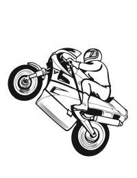 мотоцикл Раскрашивать раскраски для мальчиков